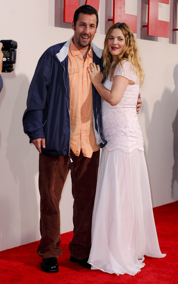 Adam Sandler and Drew Barrymore at Los Angeles Premiere of 'Blended' at TCL Chinese Theatre - Arrivals 05/21/2014 Los Angeles, United States