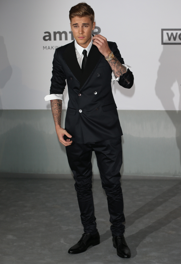 justin bieber shows his smart side in rather dapper suit