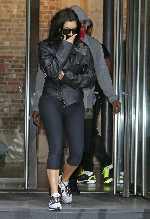 Kim Kardashian and Kanye West leaving a gym in Paris, France ahead of their wedding- 20 May 2014