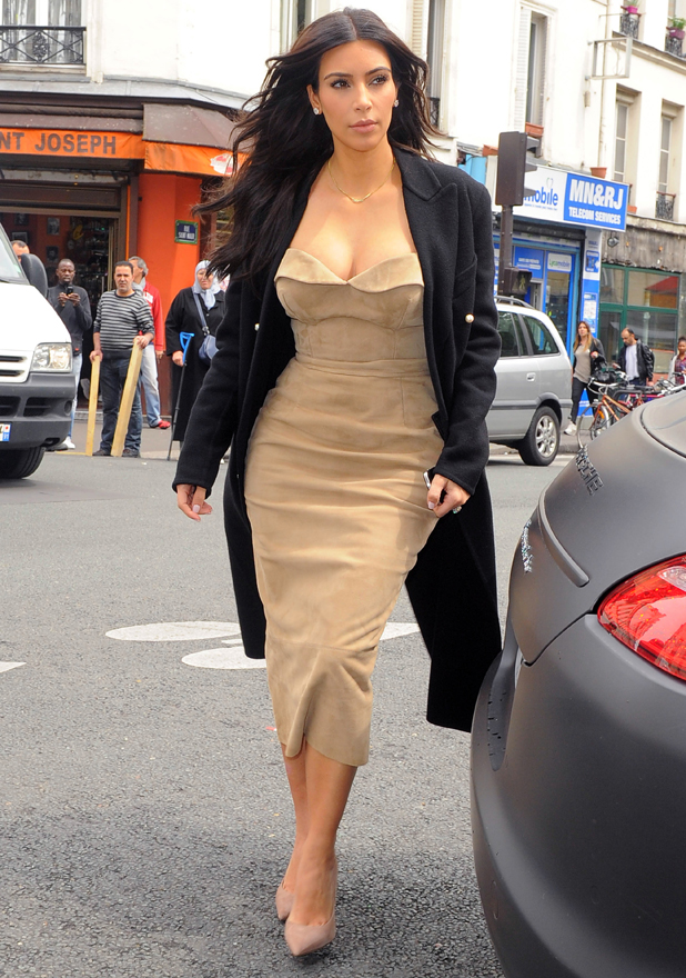 Kim Kardashian and Kanye West out and about, Paris, France - 21 May 2014