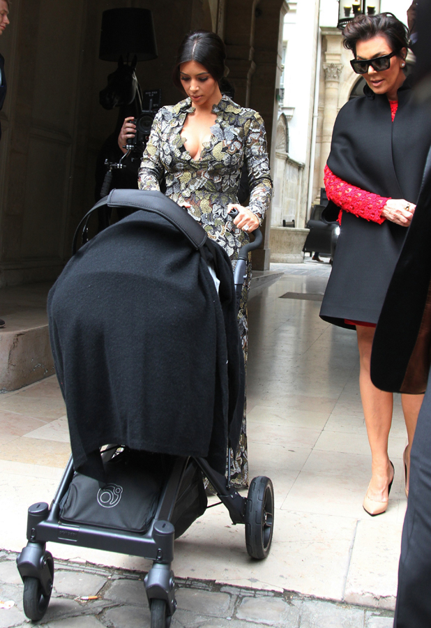 Kim Kardashian and Kris Jenner head to Valentino's castle in Paris, 23 May 2014