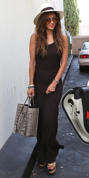 Nicole Scherzinger leaves a restaurant in Los Angeles, 20 May 2014