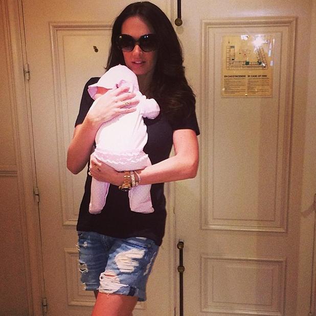 Tamara Ecclestone and baby daughter Sophia prepare to leave Cannes for Monaco, 23 May 2014
