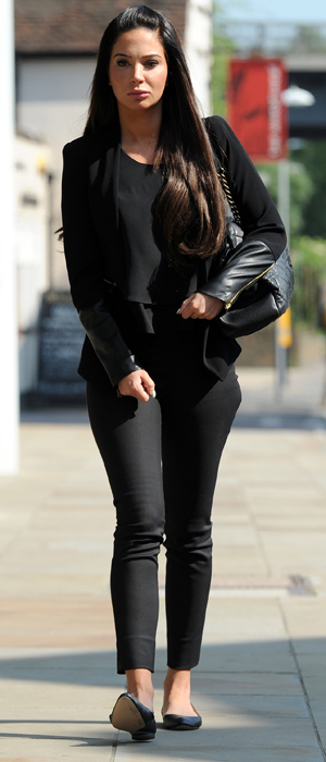 Tulisa Contostavlos arrives at Chelmsford Magistrates' court to appear on a charge of assault, 19 May 2014