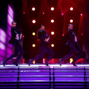 Britain's Got Talent semi-finals: Yanis Marshall, Arnaud and Mehdi - aka Men in Heels. Aired: 28 May.