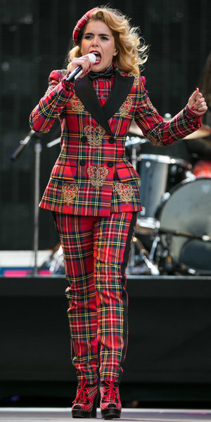 Paloma Faith wears a tartan suit while performing at Rock In Rio Lisboa 2014 in Lisbon, Portugal - 25 May 2014