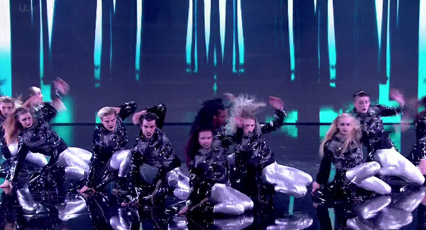 Britain's Got Talent's dance troupe The Addict Initiative performs during the semi-finals (27 May 2014).