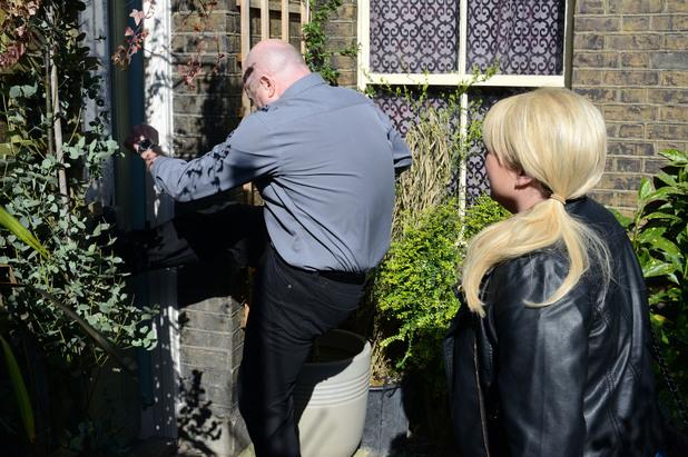 EastEnders, Phil breaks down Ian's door, Thu 29 May