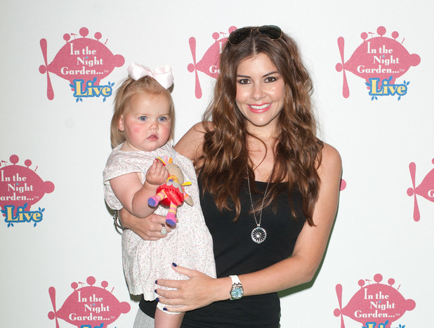Imogen Thomas and her daughter Ariana attend the Celebrity Gala of In the Night Garden Live held at the O2 London, 31 May 2014