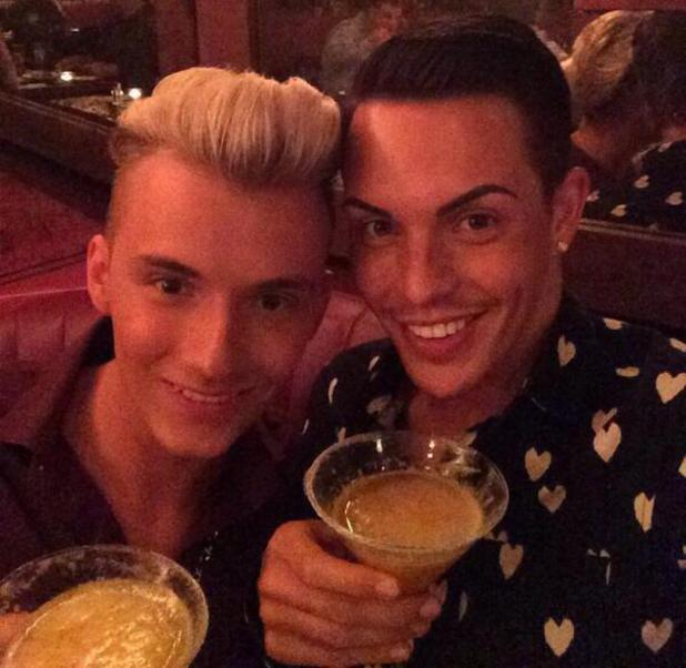 TOWIE's Bobby Norris and Harry Derbidge enjoy a date night at the Bodyguard and cocktails at The May Fair Hotel - 28 May 2014