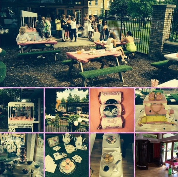 TOWIE star Danni Park Dempsey pictured at her baby shower, 1 June 2014