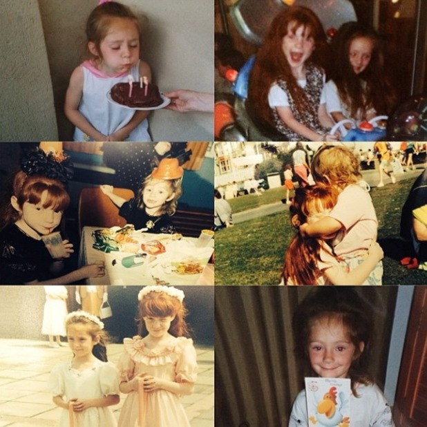 Nicola Roberts shares cute throwback pictures of herself and sister Frankie - 28 May 2014