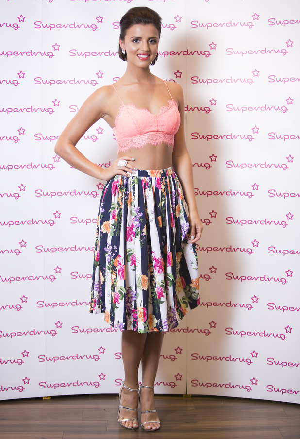 Lucy Mecklenburgh promotes her new health product Mecktone at the Superdrug store in the Trafford Centre, Manchester, England - 27 May 2014