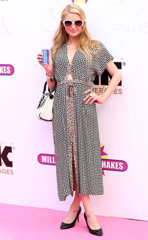Paris Hilton attends the launch of the new Millions of Milkshakes store in Shanghai, China - 28 May 2014