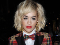 Rita Ora wears a tartan suit at the Rimmel London 180 Years of Cool party, held at The London Film Museum - 10 October 2013