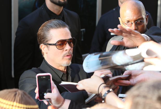 Brad Pitt at the premiere of Maleficent in LA, 28 May 2014