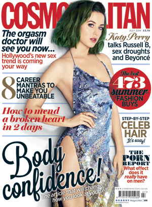 Katy Perry is photographed by Matt Jones for the July issue of Cosmopolitan, the first-ever global edition.
