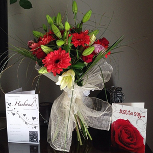Danielle Lloyd's husband Jamie O'Hara buys her flowers for anniversary 26 May 2014
