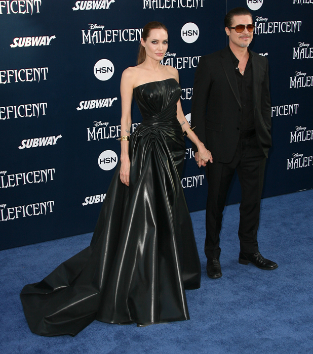 Angelina Jolie and Brad Pitt at the 'Maleficent' film premiere, Los Angeles, America - 28 May 2014