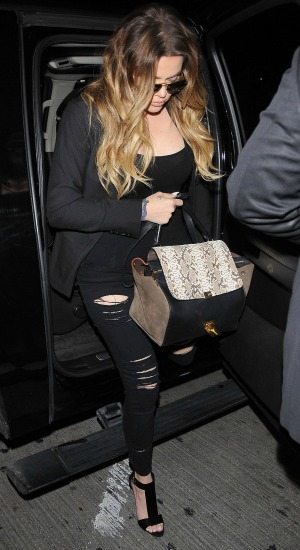 Khloe Kardashian arrives at Los Angeles International (LAX) airport, 31 May 2014
