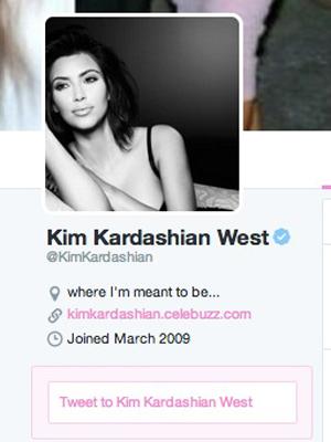 Kim Kardashian changes her Twitter name to Kim Kardashian West, 28 May 2014