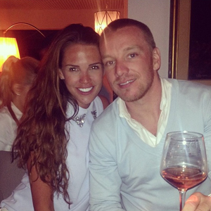 Danielle Lloyd celebrates second wedding anniversary with Jamie O'Hara at dinner, 26 May 2014