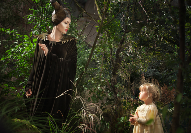 A still of Angelina Jolie and daughter Vivienne Jolie-Pitt in Disney's Maleficent, May 2014