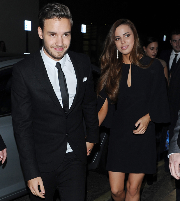 Liam Payne and Sophia Smith seen leaving the Class of 92 after party held at the Chakana club in London, 12 February 2014