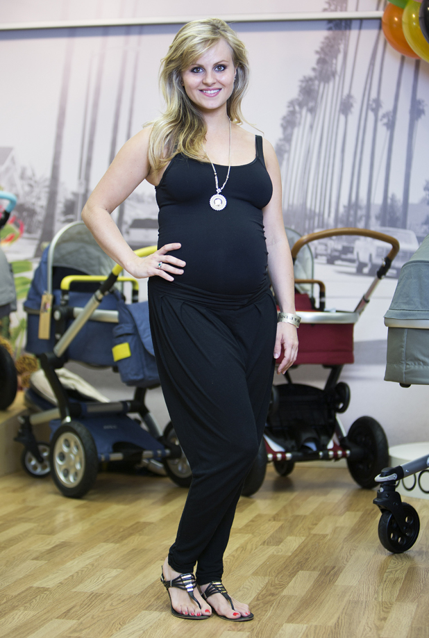 Pregnant ex-Coronation Street star Tina O'Brien at Joolz Tailor Pushchair VIP launch event 23 May 2014