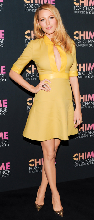 Blake Lively steps out at the Chime for Change anniversary party in New York, America - 3 June 2014