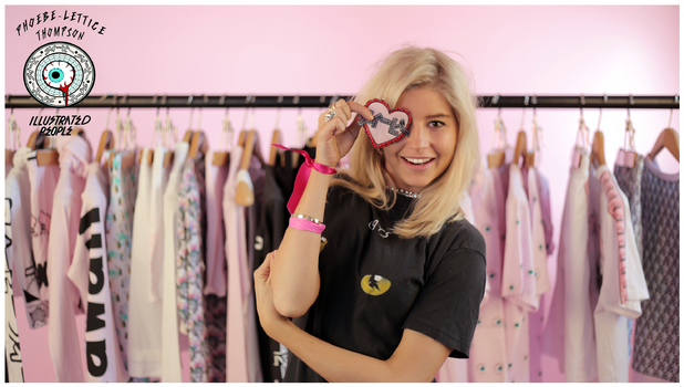 Phoebe Lettice Thompson launches her new clothing collection for Illustrated People - June 2014
