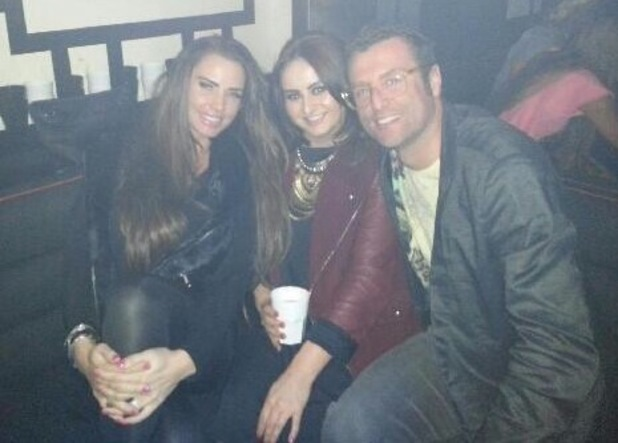 Katie Price with her brother Danny and sister Sophie at Sugar Hut in Essex - April 2013
