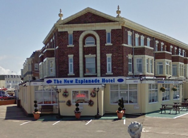 The New Esplanade Hotel in Blackpool - Where Zayn Malik stayed on 2 June 2014