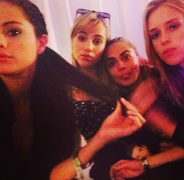 Selena Gomez, Cara D and Suki Waterhouse at Katy Perry concert - 31 May