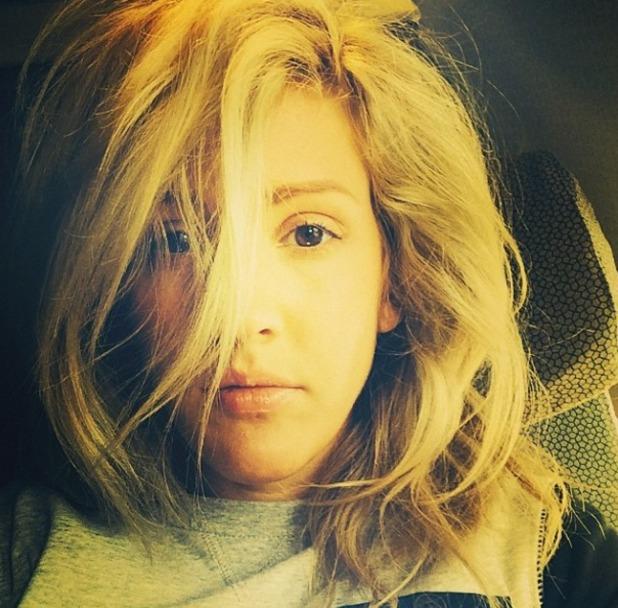 Ellie Goulding bad hair day, June 2