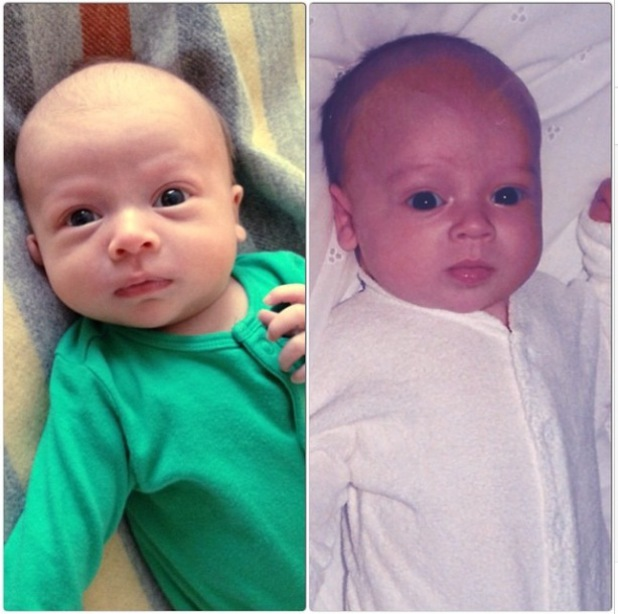 Tom Fletcher shares a new picture of baby Buzz and himself as a baby - 4 June 2014