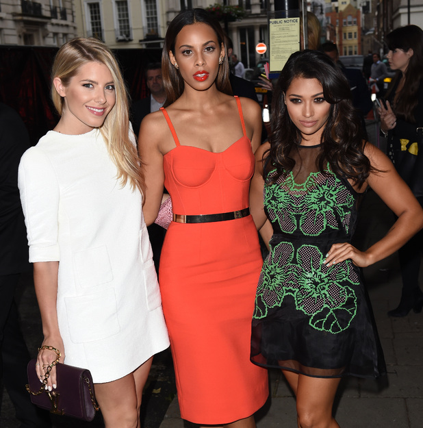 Mollie King, Rochelle Humes and Vanessa White attend the Glamour Women of the Year 2014 awards in London, England - 3 June 2014