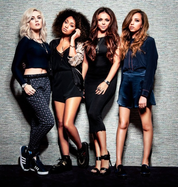 Little Mix's Jesy Nelson, Jade Thirlwall, Perrie Edwards and Leigh-Anne Pinnock promote their new lip balms and eyeshadow palette for Collection cosmetics - June 2014