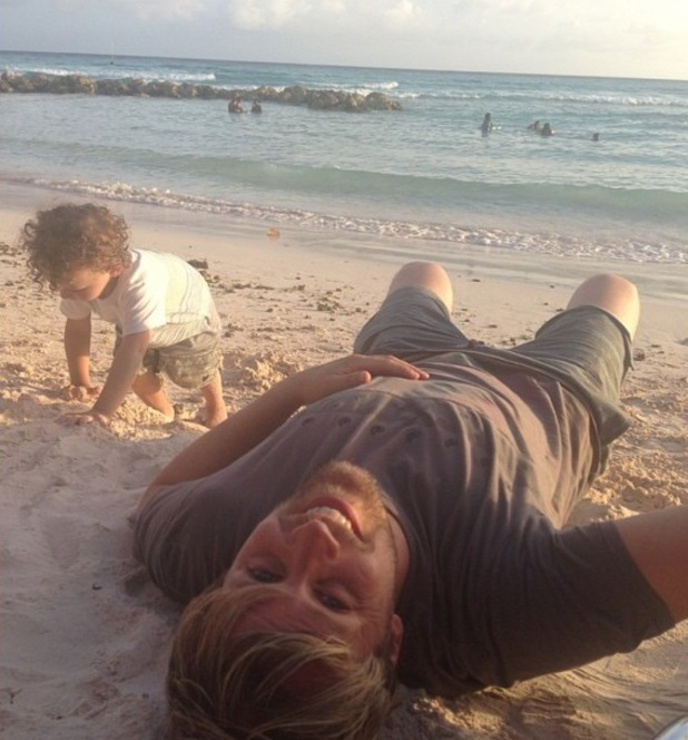 Kian Egan and Jodi Albert enjoy a holiday in Barbados with their son Koa - 3 June 2014