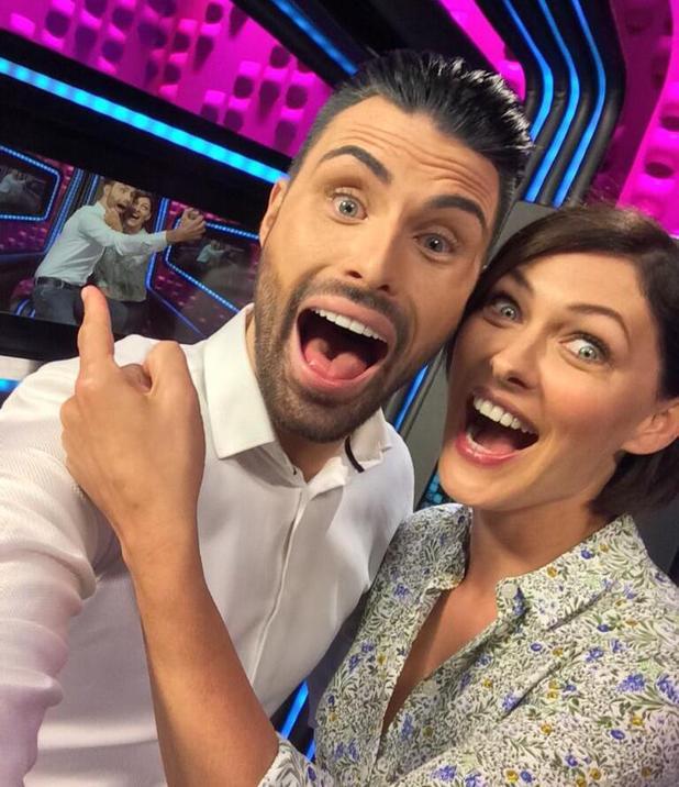 Rylan Clark and Emma Willis roam the Big Brother house (4 June).