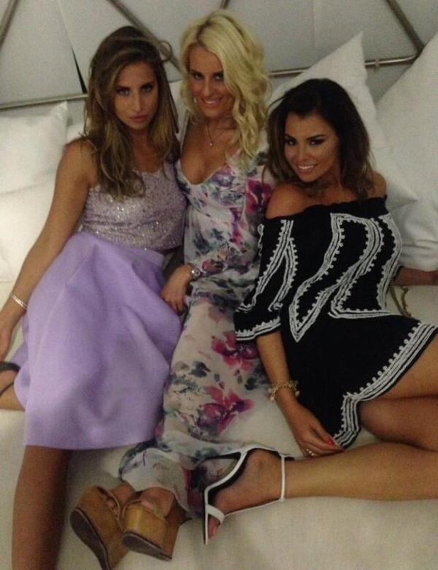 Jessica Wright posts picture from Marbs with Danielle Armstrong and Ferne McCann, 7 June 2014