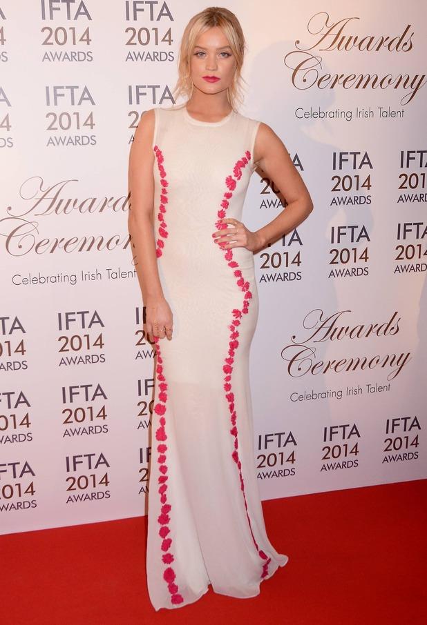 Laura Whitmore, The Irish Film & Television Academy awards 2014 (IFTA) at DoubleTree by Hilton Dublin Hotel, 6 April 2014