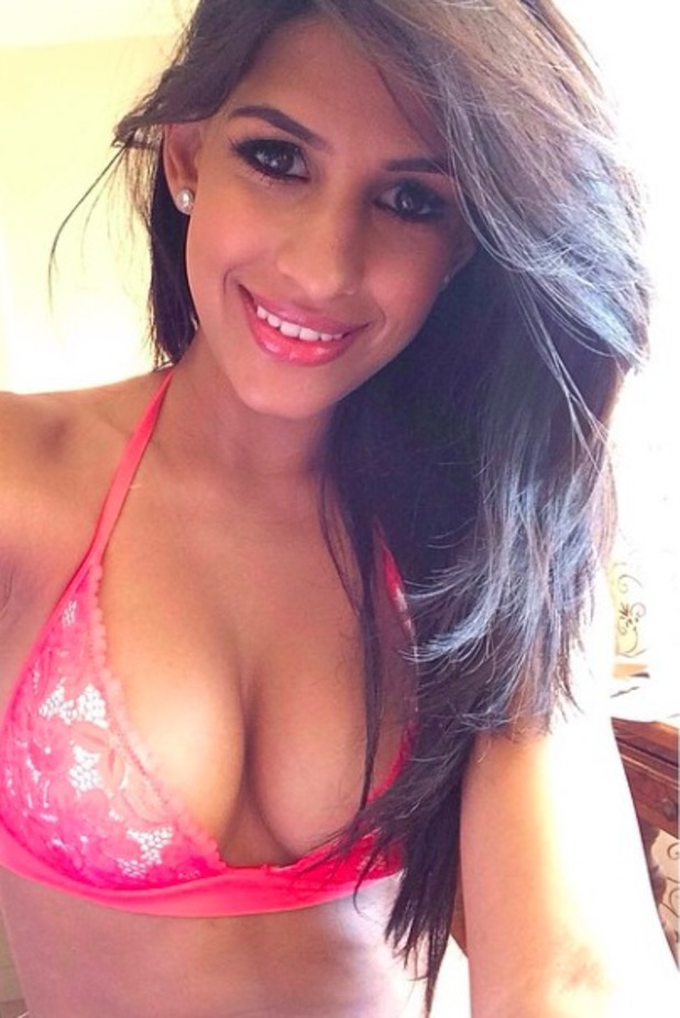 Jasmin Walia shows off her best assets during break from filming TOWIE's Marbs special, 8 June 2014,