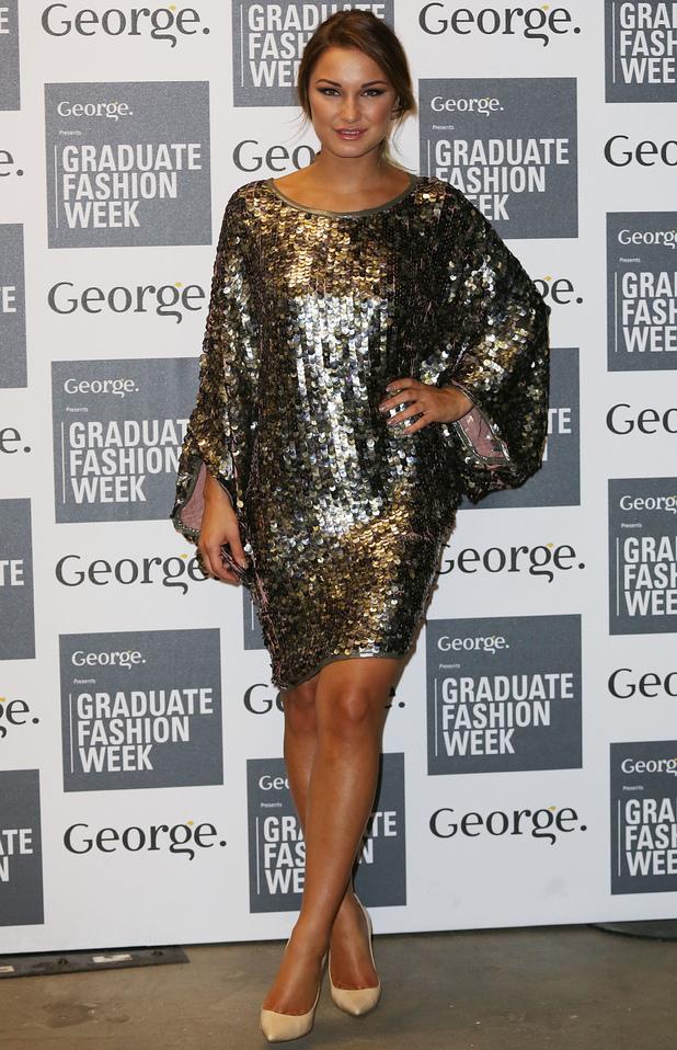 sam Faiers wears Samantha Clegg sequin dress to Graduate Fashion Week finale show - 3 June 2014