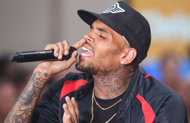 Chris Brown performs on the 'Today' show as part of their NBC Toyota Concert Series in Rockefeller Center, 30 August 2014