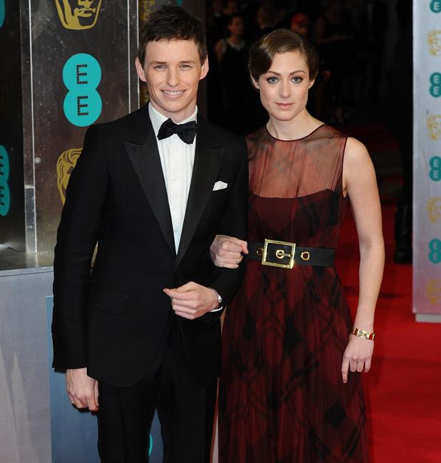 Eddie Redmayne and Hannah Bagshawe, EE British Academy Film Awards (BAFTA) held at the Royal Opera House - Arrivals, 16 February 2014