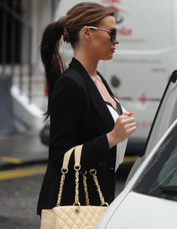 Jessica Wright is seen in London after visiting a beauty salon, 4 June 2014