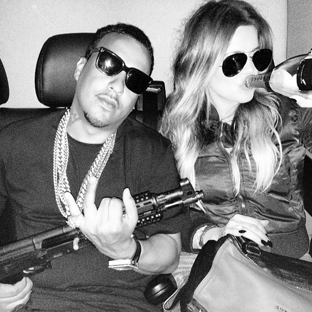 Khloe Kardashian posts controversial picture of herself and French Montana, 2 June 2014