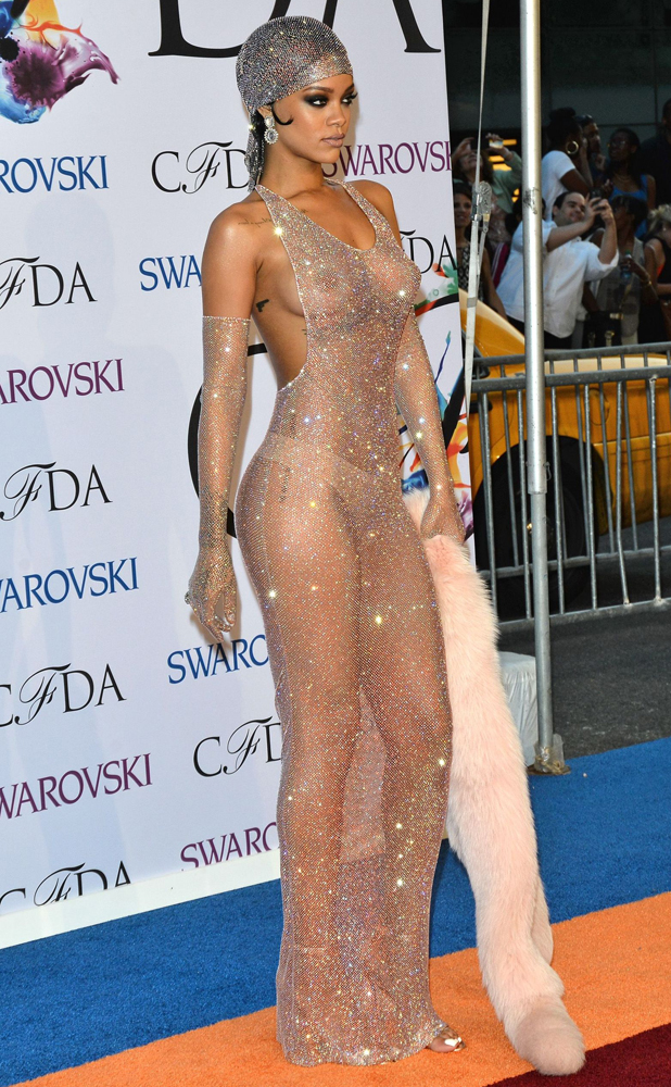 Cfda awards rihanna dress see through final, sorry