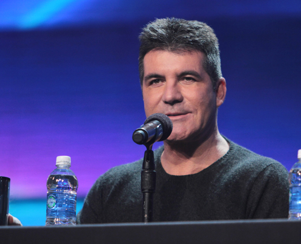 Simon Cowell at the X Factor USA finals Press Confrence at held at CBS Studios, 2012